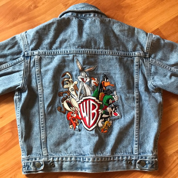 Warner Bros Jackets Amp Coats Kids Vintage Wb Denim